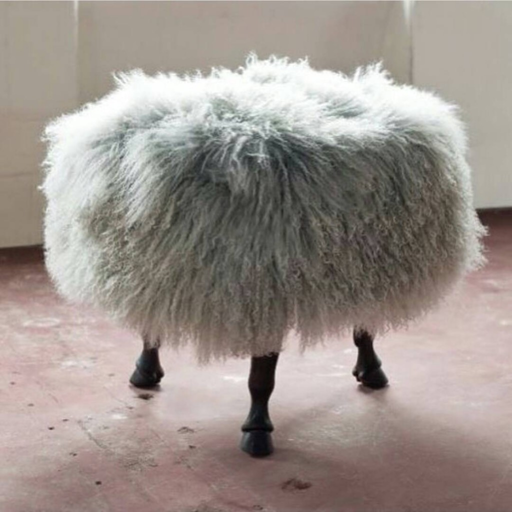 Tibetan Wool Ottoman