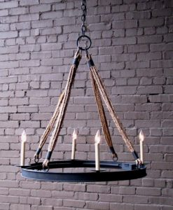 Cordiff Large Chandelier with Rope