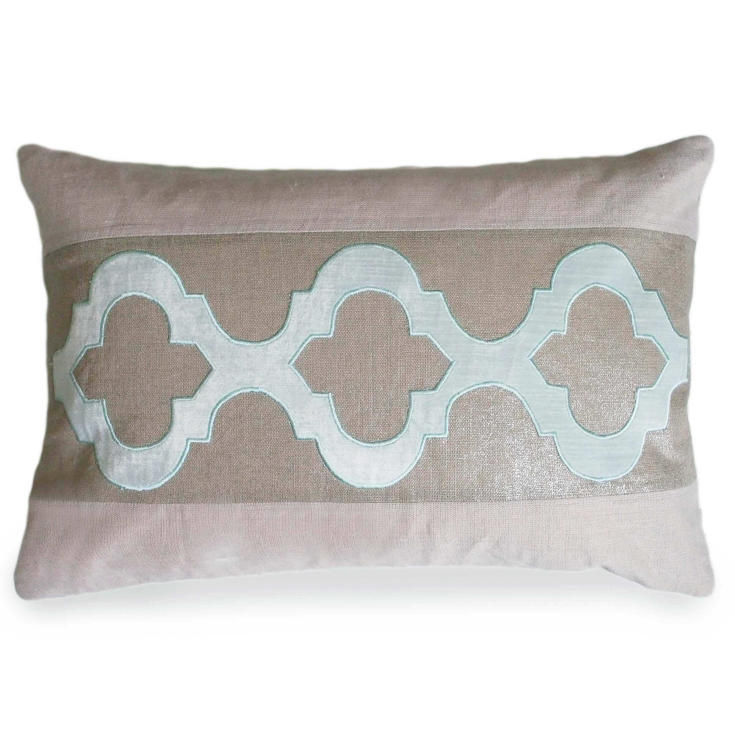 Pacific Blue Throw Pillows : Pacific Blue CeeCee Linen Pillow - Donjenna