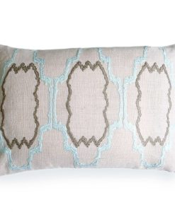Pacific Blue Lilly Linen Pillow