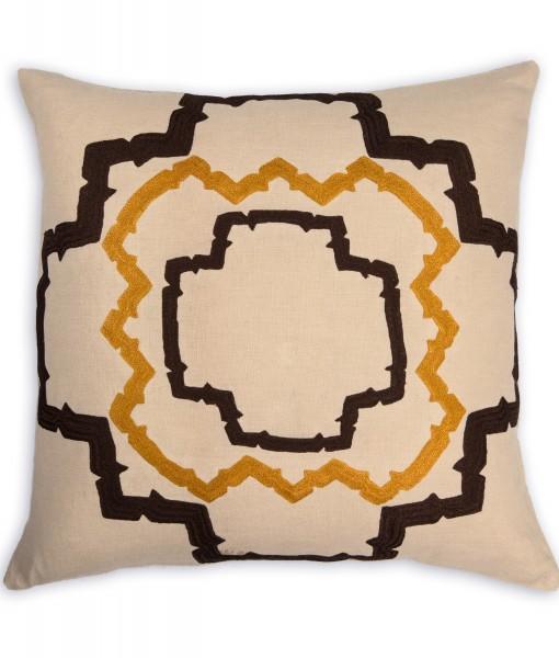 Walker Espresso Linen Pillow