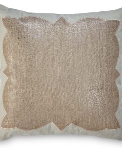 Ashley Metallic Linen Pillow With Blue