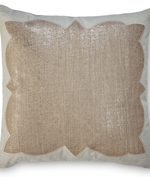 Ashley Metallic Linen Pillow With Blue