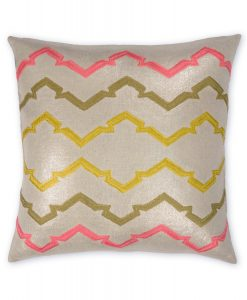 Retro Jackie Metallic Linen Pillow