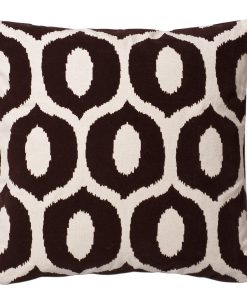 Oreo Flocked Cotton Pillow of the Espresso Collection