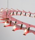 Schproket Pendant Light in Red
