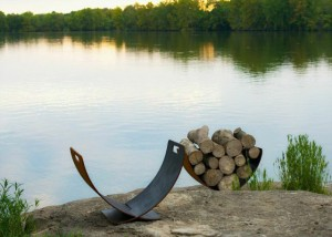 Wings of Flight Firewood Holder for outdoor entertaining
