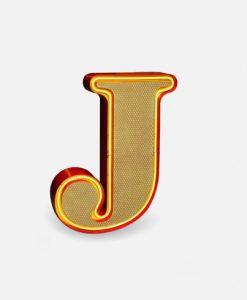 J Neon art alphabet light