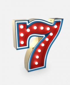 "Seven ""7"" Lucky Number Neon Lights"