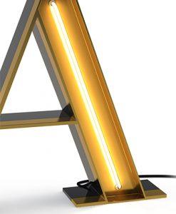 A Neon Alphabet Light