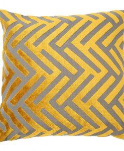 Susan Citrus Cut Velvet Pillow