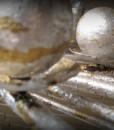 Sol Gold & Silver Leaf Chandelier – Rectangle