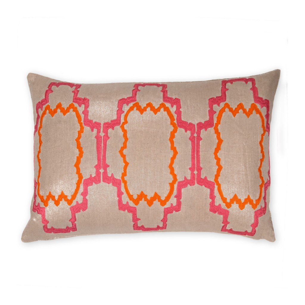 Lilly of the Sunset Collection Linen Pillow