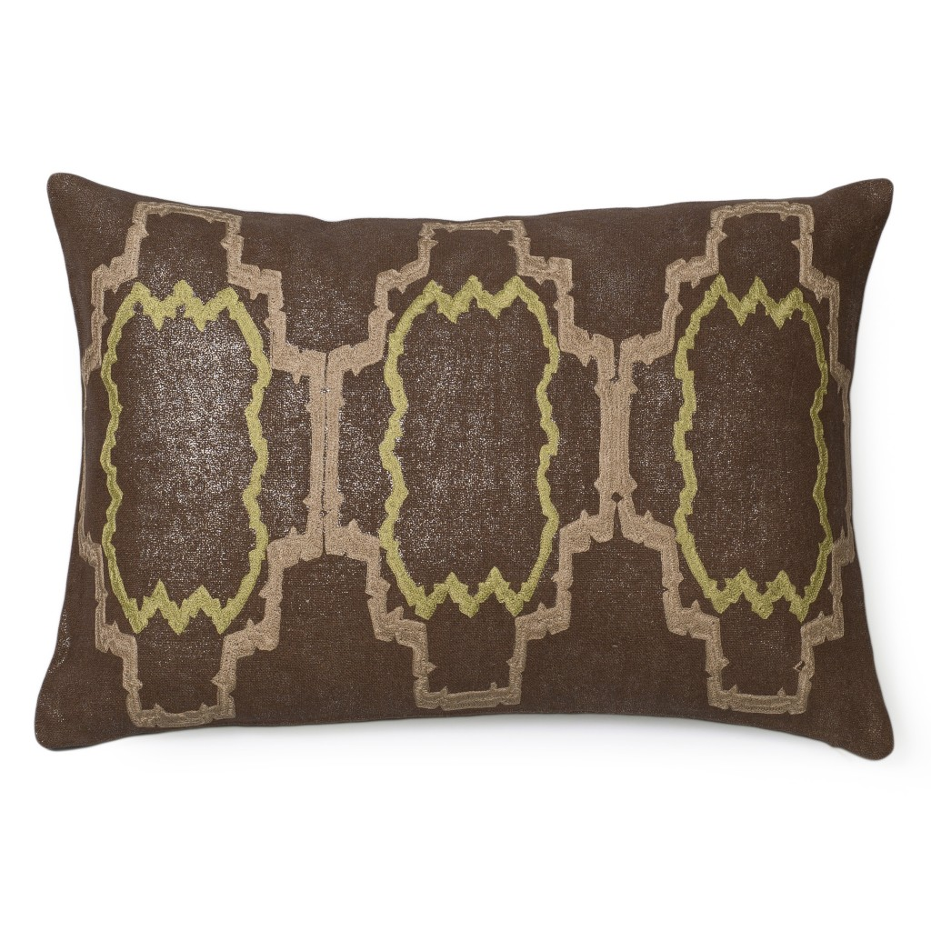 Retro Lilly Metallic Linen Pillow