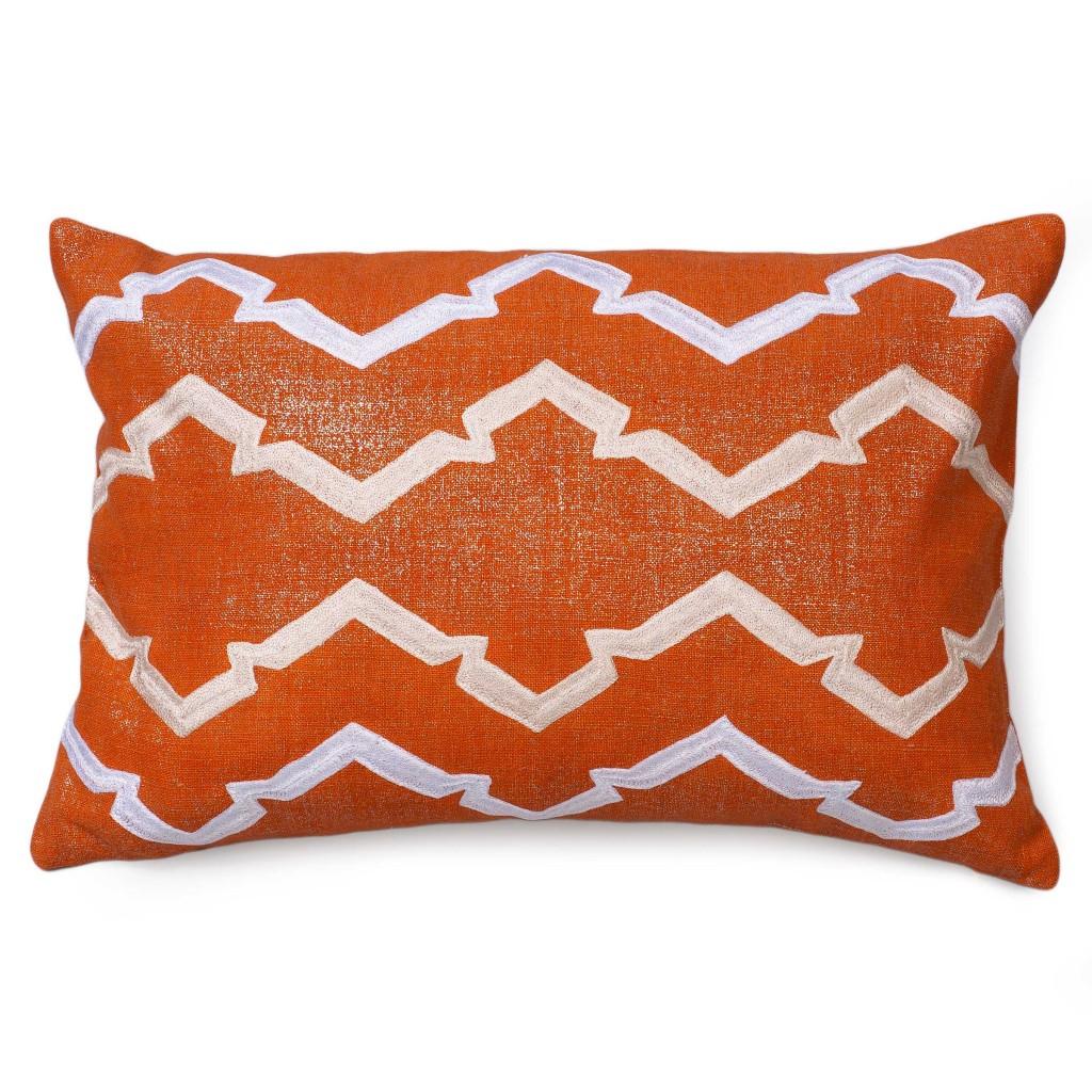 Finley of the Lava Collection Metallic Linen Pillow
