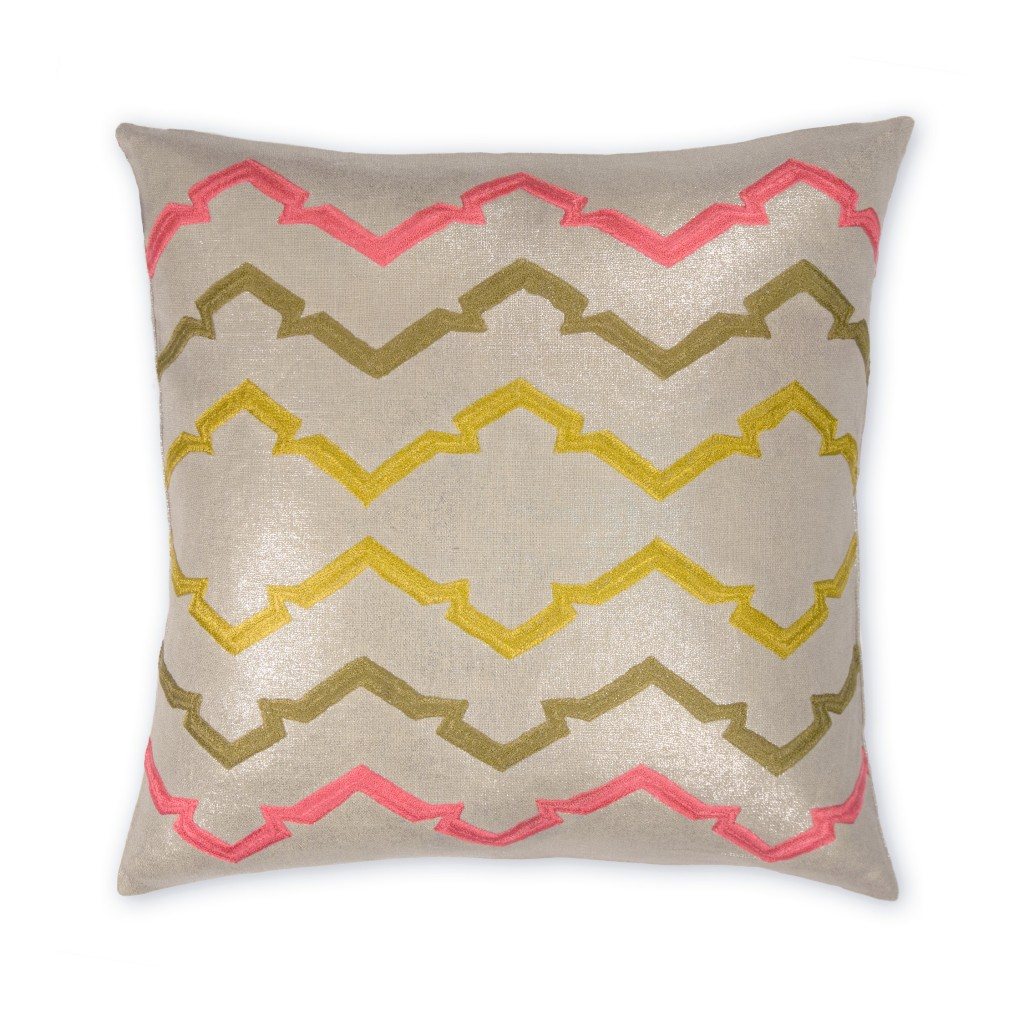 Retro Jackie Metallic Linen Pillow