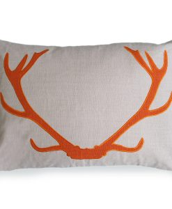 Blitzen Linen Pillow in Orange of the Aspen Collection