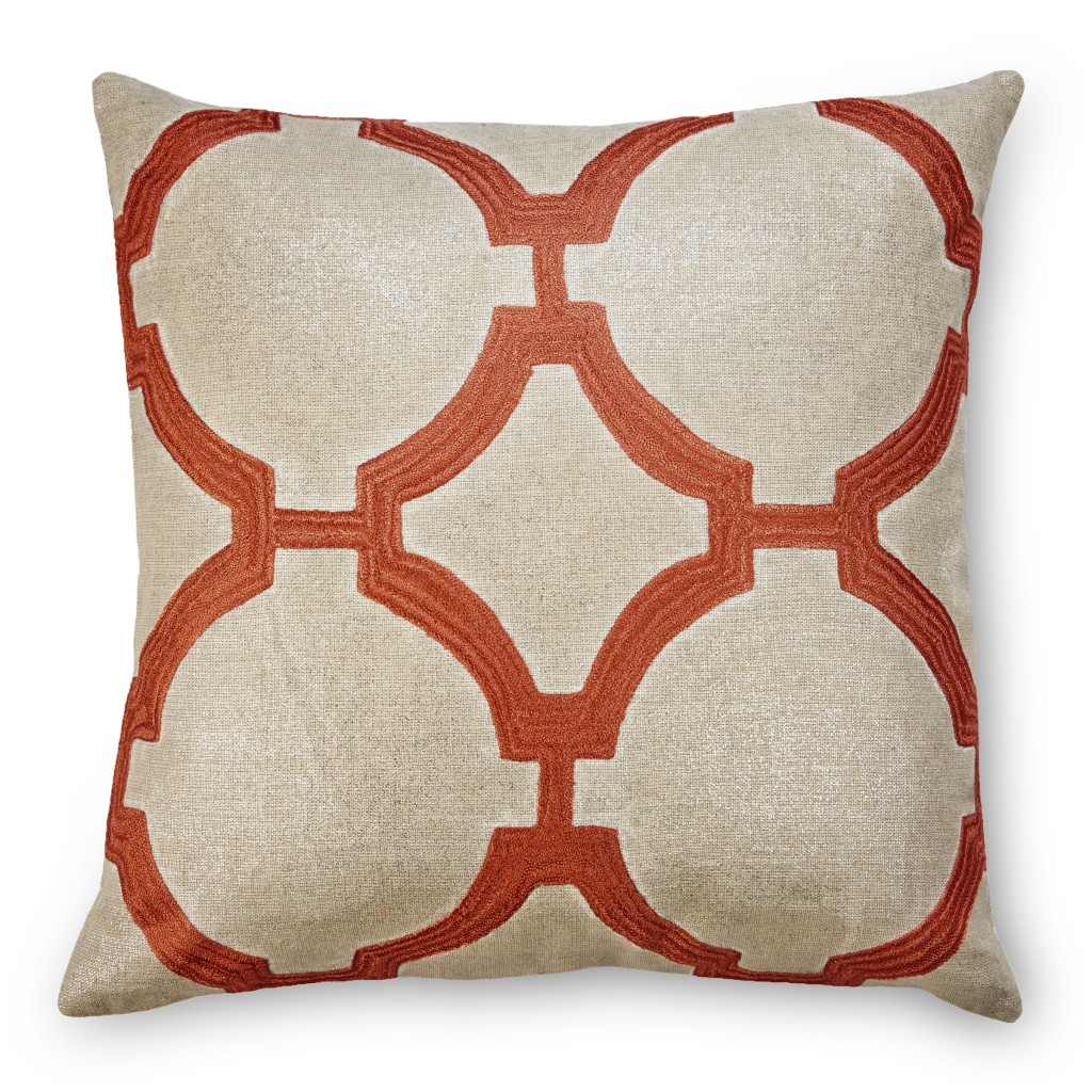 Reynolds Metallic Linen Embroidered Pillow