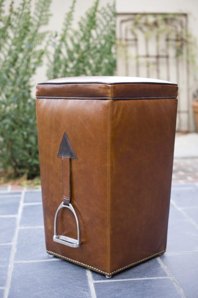 Longchampe Leather Stool