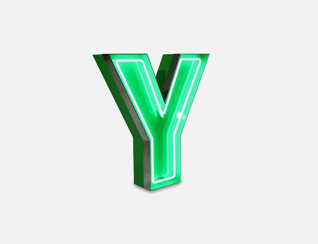 Y Neon Letter Lighting