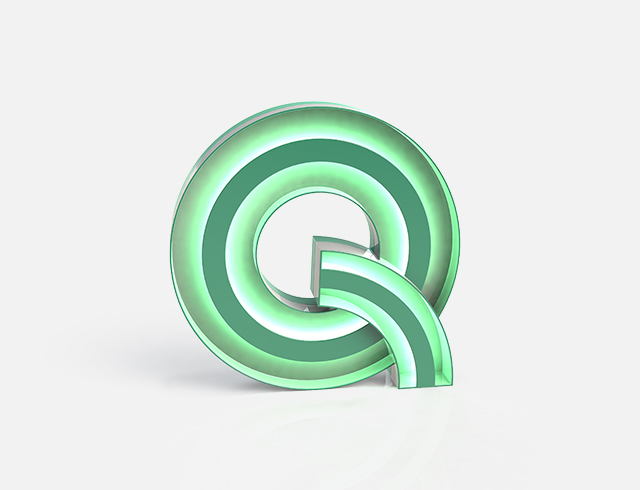 Q Neon Floor Light