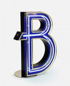B Neon Letter Light