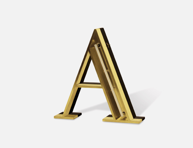 A Neon Alphabet Light