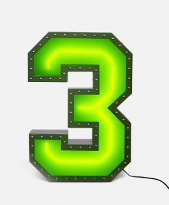 "Three ""3"" Neon Lights"