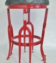 Up-Cycled Stool in Red