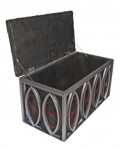 Tour de Trunk Up-cycled Ottoman Table