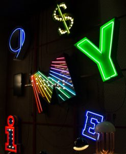 M Neon Lighting