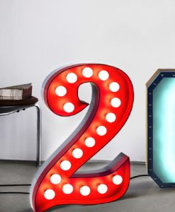 "Two ""2"" for You Graphic Letter Lights"