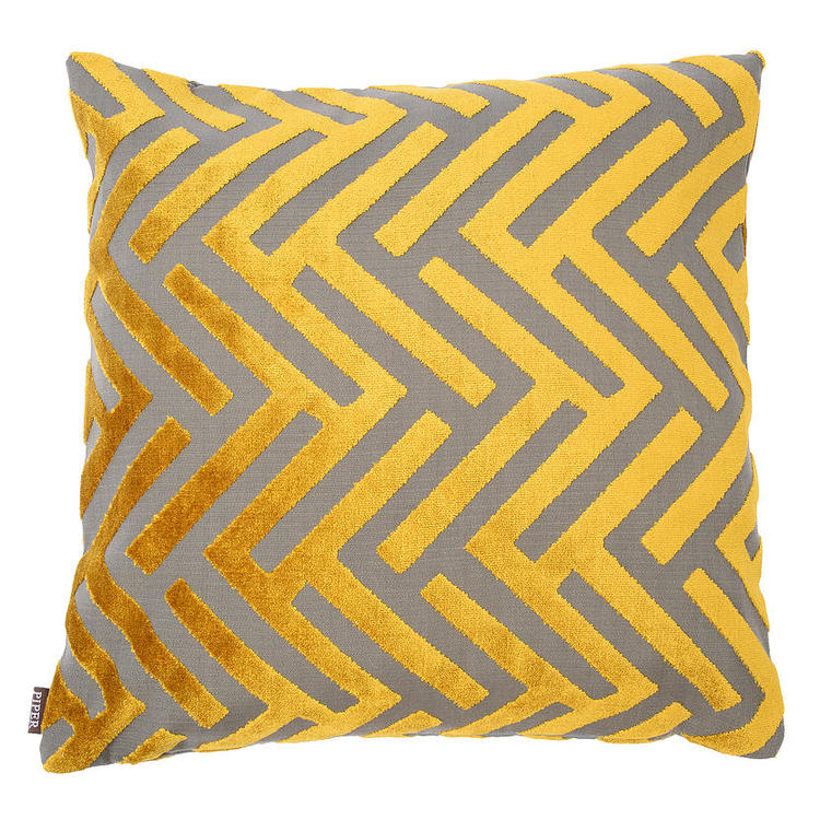 Susan Citrus Cut Velvet Pillow
