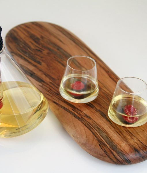 Sempli Aperitif glasses with Ambrosia Maple Tray