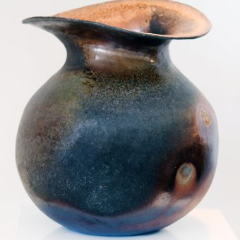 Scuppernong Vase natural clay ceramics